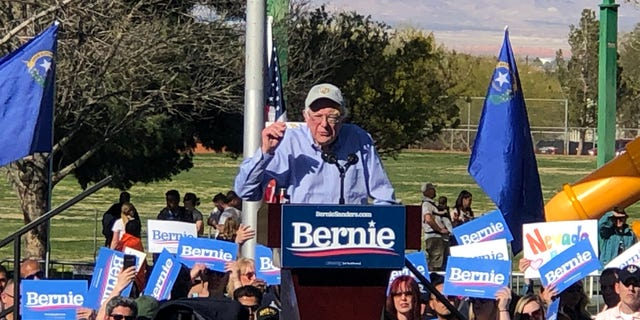 Presidential candidate Bernie Sanders holds a rally in Henderson, Nev., earlier this year.