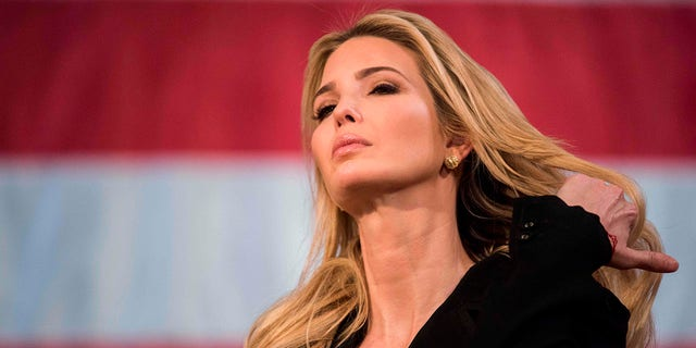 A white initiative spearheaded by Ivanka Trump to help women in developing countries come forward financially, announcing their first rate of subsidy. (RYAN MCBRIDE / AFP / Getty Images)