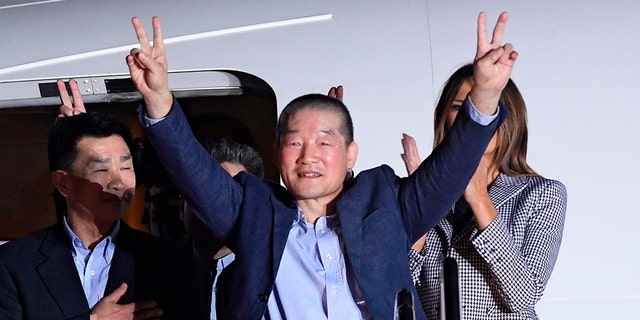 Kim Dong Chul, pictured here at Joint Base Andrews after his release from North Korea, said he spied for South Korea and the U.S. before he was arrested for espionage in 2015.