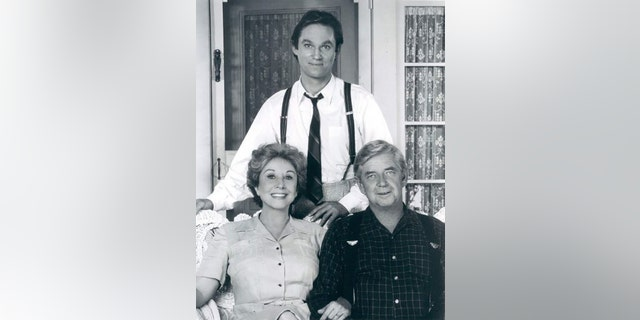 "Michael Learned said her audition for ""The Waltons"" was with Ralph Waite (sitting) and Richard Thomas. 鈥� Courtesy of Michael Learned"
