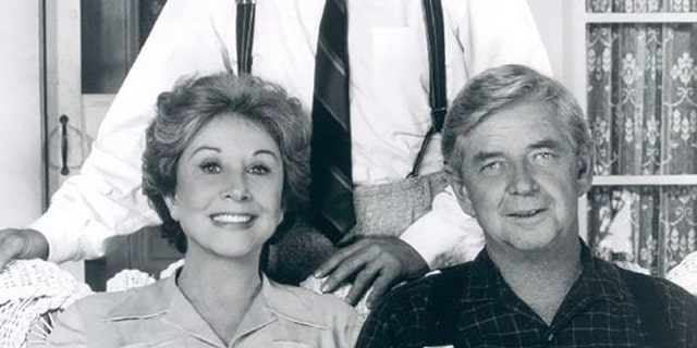 Michael Learned pronounced her try-out for The Waltons was with Ralph Waite (sitting) and Richard Thomas. — Courtesy of Michael Learned
