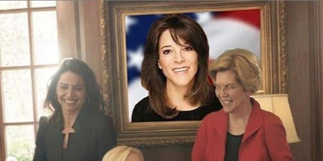 Marianne Williamson edited a mural of herself into a print used by Vogue for a underline on 5 women opposed for a 2020 Democratic presidential nomination. Williams was released from a story.