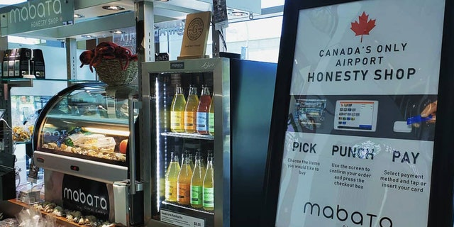 A new shop in Halifax airport in Nova Scotia, Canada is relying on the honesty system with customers. They don't have any staff on-site, just a credit card reader and mailbox to place your cash.