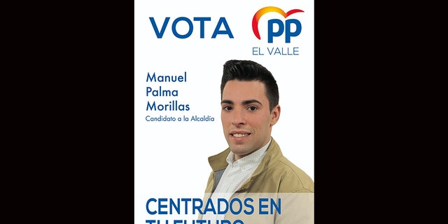 Manuel Palma in an election poster for the Popular Party.