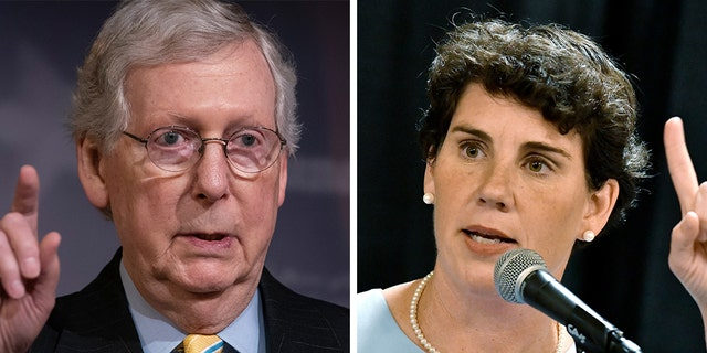 Senate Majority Leader Mitch McConnell, R-Ky., is neck-and-neck in a new poll with Democratic candidate Amy McGrath -- but McGrath is facing a primary challenger who's endorsed by two big-name progressive Democrats.