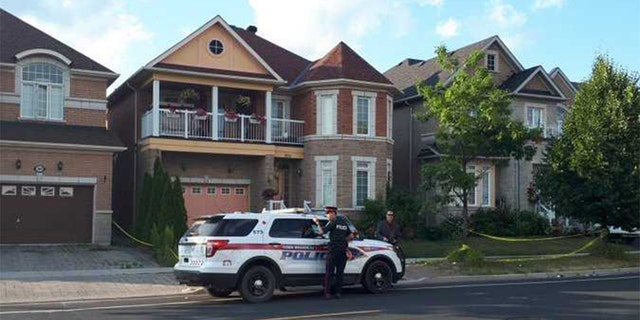 Home in Markham, Canada, north of Toronto, where four bodies were found Sunday. Menhas Zaman, 23, has been charged with four counts of murder.
