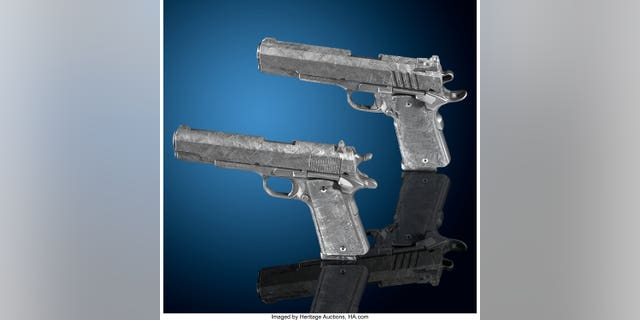 The pistols are made from a 4.5 billion-year-old meteorite.
