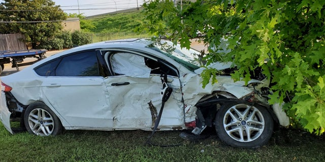 Car that hit Nashville officer John Anderson, killing him on July 4th.