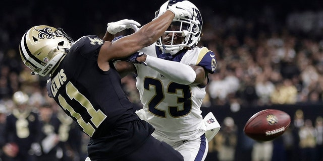 """A Louisiana judge has ordered that NFL Commissioner Roger Goodell and three officials from January's NFC title game be questioned under oath in September about an infamous """"no-call"""" that helped the Los Angeles Rams beat the New Orleans Saints in January's NFC title game, an attorney said Monday, July 29, 2019. (AP Photo/Gerald Herbert, File)"""