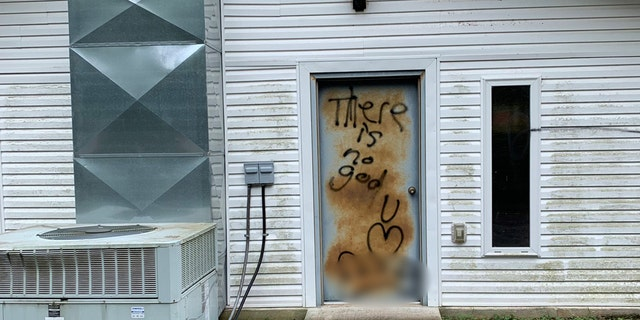 Pastor James Mitchell of Napier Pentecostal Church in Hohenwald, Tenn., which is about an hour and half southwest of Nashville,told Fox News that when he arrived at the church on Wednesday afternoon he discovered the graffiti.