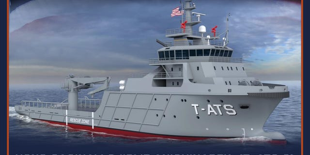 An artist's impression of the future USNS Saginaw Ojibwe Anishinabek (T-TATS 8).