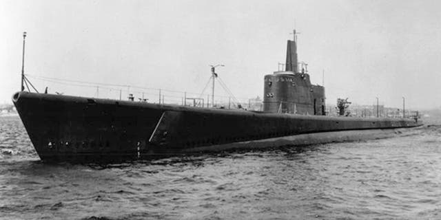 In this undated file photo the submarine USS Grunion (SS 216) is seen underway.