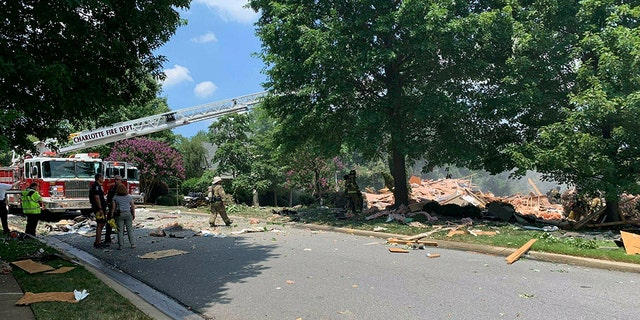 Westlake Legal Group North-Carolina-Collapse Woman dead, man rescued from rubble after North Carolina house explosion, fire officials say Talia Kaplan fox-news/us/us-regions/southeast/north-carolina fox-news/us/disasters/fires fox-news/us/disasters fox news fnc/us fnc article 9434b643-2d04-5416-8a23-e9aba6e268f1