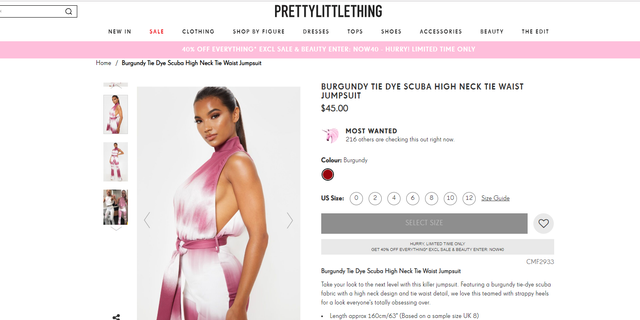 """PrettyLittleThing's newest """"killer jumpsuit"""" was directly inspired by Eleanor Walton, the online retailer confirmed."""