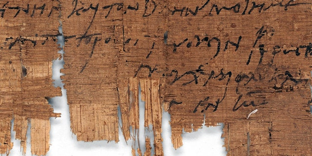 The world`s oldest autograph by a Christian.