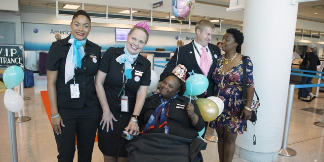 "Shantell ""Princess"" Pooser was first made an honorary flight attendant last year."