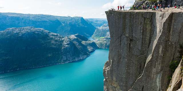 "The proposed project, dubbed the ""Cliff Concept Boutique Hotel,"" imagines the hotel built just under the plateau of the Preikestolen, which is described as ""the most famous tourist attraction in Ryfylke,"" according to VisitNorway.com."