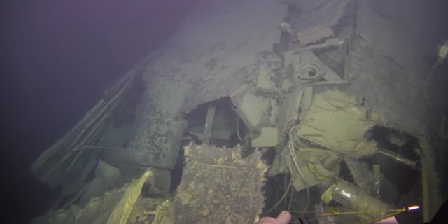 The submarine's wrecked hull. (Institute of Marine Research Norway/Ægir 6000)