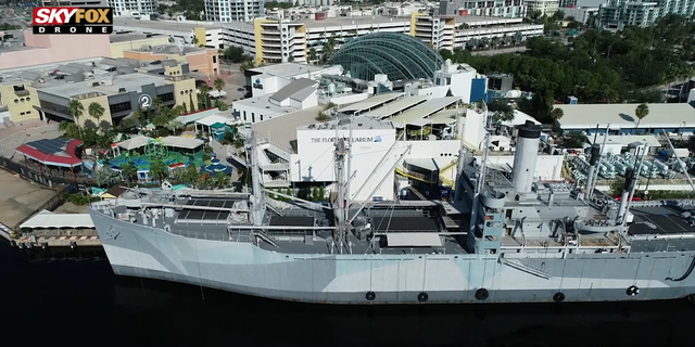 The SS American Victory, a WWII cargo ship in downtown Tampa, gets more than 30,000 visitors a year.