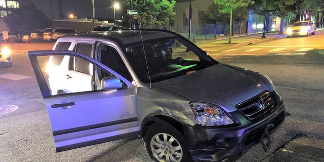 The SUV that Moreno-Berrios allegedly stole after throwing a live snake at the driver.