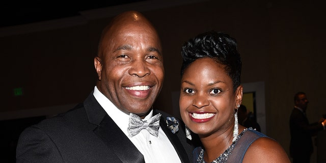Actor Renard Spivey and Pat Marshall attend the 41st Annual Daytime Emmy Awards at the Beverly Hilton Hotel on June 22, 2014 in Beverly Hills, California. (Photo by Michael Buckner / Getty Images for NATAS)