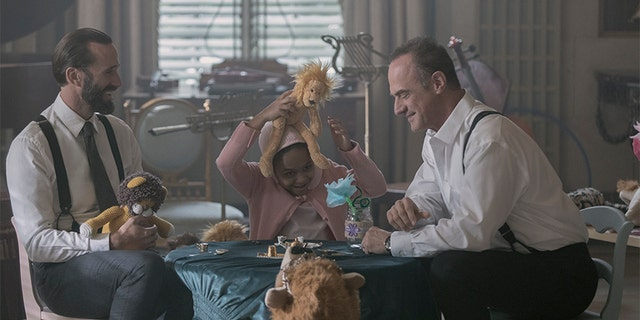 "The Handmaid's Tale -- ""Household"" - Episode 306 -- June accompanies the Waterfords to Washington D.C., where a powerful family offers a glimpse of the future of Gilead. June makes an important connection as she attempts to protect Nichole. Fred (Joseph Fiennes), Polly (Maria Nash), and Winslow (Christopher Meloni) shown. (Photo by Jasper Savage/Hulu)"