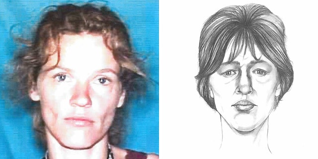 The photo right was an FBI sketch based on the body found in a field in Indiana field in 1999. The photo, right is that of Tina Cabanaw's Michigan driver's license photo.