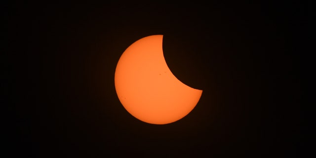 File photo - Total eclipse of the sun at the location of the longest duration of 2 minutes and 40 seconds in Hopkinsville, KY. Aug. 21, 2017.