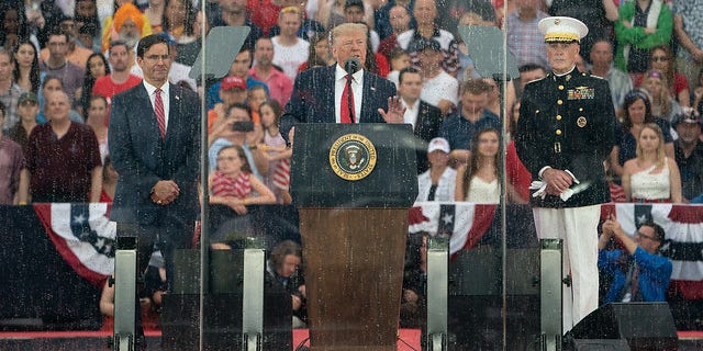 President Donald Trump speaks at the Salute to America event on July 4, 2019, at the Lincoln Memorial in Washington, D.C.