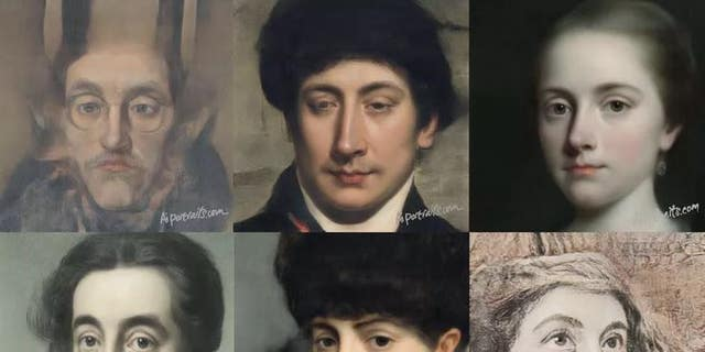 Some portraits constructed by a AI Portrait Ars model.