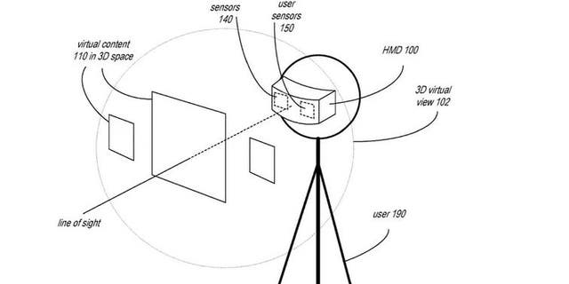 Apple has filed a patent for a headset featuring many different capabilities. (U.S. Patent Office)
