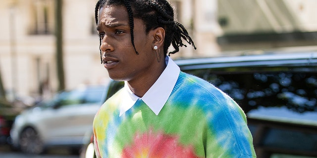 A$AP Rocky is seen outside Loewe during Paris Fashion Week - Menswear Spring/Summer 2020 on June 22, 2019 in Paris. A$AP Rocky was later detained in Sweden after an alleged street fight.