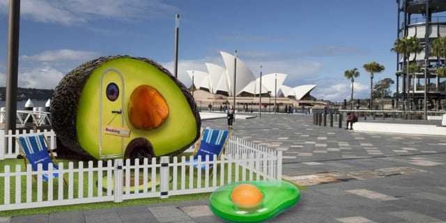 Booking.com created the unusual first-ever fruit-shaped dwelling to celebrate America's National Avocado Day.