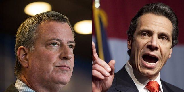 Although both are Democrats, New York City Mayor Bill de Blasio, left and New York Gov. Andrew Cuomo have had a strained relationship.