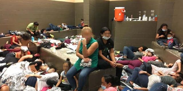 Government inspectors observed women detained at a Border Patrol facility in Weslaco, Texas sleeping on the floor with aluminum blankets.