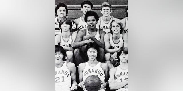 """Obama, seen here in a yearbook photo, was known to teammates as """"Barry."""""""
