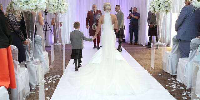Maxine Connolly was amazed that not only was she getting married, but her son Jack was able to walk her down the aisle.