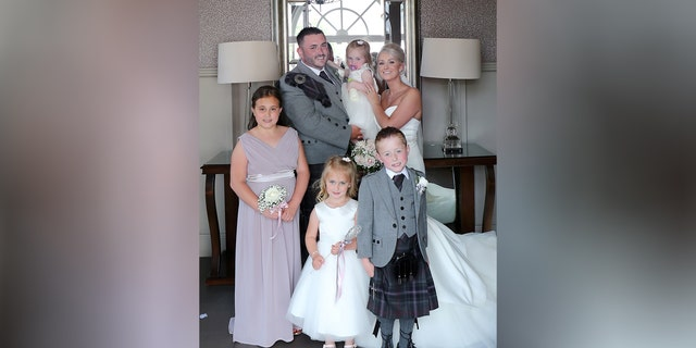 Maxine and Michael Connolly with their children: Jack, Lucy, Sophie and Ellie.