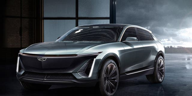 Cadillac will sell an electric utility vehicle based on this rendering in the coming years.