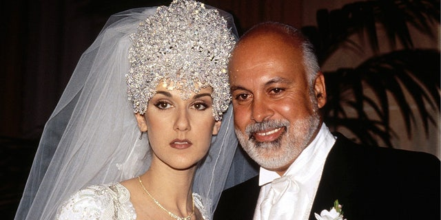 Celine Dion In Montreal, Canada on December, 17, 1994, during her wedding with Rene Angelil. (Getty Images)