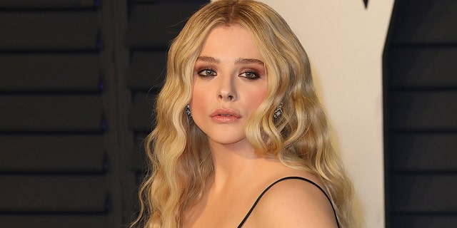 Chloë Grace Moretz attends a 2019 Vanity Fair Oscar Party hosted by Radhika Jones during Wallis Annenberg Center for a Performing Arts on Feb. 24, 2019 in Beverly Hills. A decider postulated Moretz a confining sequence opposite an 18-year-old male who allegedly trespassed on her family's skill twice in reduction than 24 hours.
