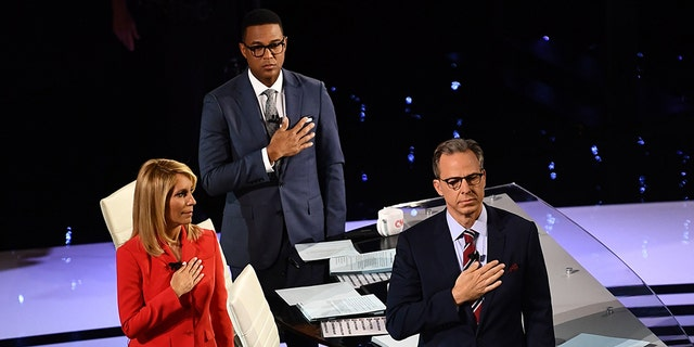 Moderators Dana Bash, Don Lemon and Jake Tapper failed to ask about Robert Mueller's recent testimony during the first round CNN's Democratic primary debate. (Photo by Brendan Smialowski / AFP) (Photo credit should read BRENDAN SMIALOWSKI/AFP/Getty Images)