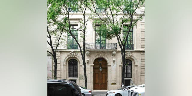 Jeffrey Epstein's townhouse on the Upper East Side of Manhattan. (AP Photo/Bebeto Matthews)