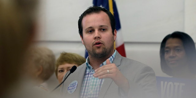 Josh Duggar was arrested Thursday on federal charges.<br> (AP Photo/Danny Johnston, File)