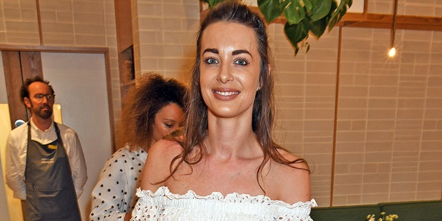 Emily Hartridge at a dinner hosted by Sweaty Betty in London, on May 30, 2018.