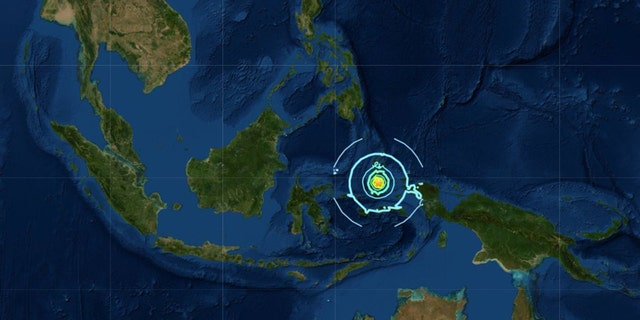 A 7.3 magnitude earthquake struck the Moluccas islands on Sunday, with the epicenter seen in the above picture.