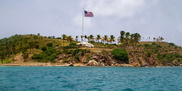 This Tuesday, July 9, 2019 photo shows a view of Little St. James Island, in the U. S. Virgin Islands, a property owned by Jeffrey Epstein. (AP Photo/Gianfranco Gaglione)