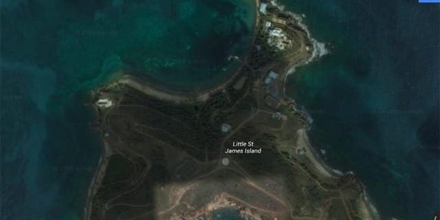 "Epstein's private getaway has been dubbed ""Orgy Island."" (Google Earth)"