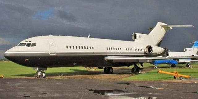 Epstein's Boeing 727 was famous as a Lolita Express. (John Coates, airport-data.com)