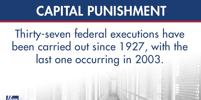 Federal government to resume capital punishment, schedule